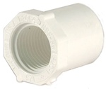 "Schedule 40 PVC Reducer Bushing 3/4"" Spg x 1/2"" FPT"