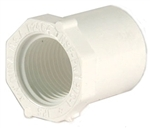 Schedule 40 PVC Reducer Bushing 1 inch Spg x 3/4 inch FTP