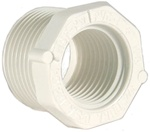 "Schedule 40 PVC Reducer Bushing 3/4"" MPT x 1/2"" FPT"