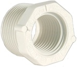 "Schedule 40 PVC Reducer Bushing 3/4"" MPT x 1/4"" FPT"