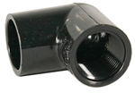 "Schedule 40 PVC Elbow 3/4"" Slip X 3/4"" FPT Black"