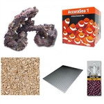Coralife Size 32 LED BioCube Aquarium Reef SALT, SAND & ROCK PACKAGE