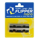 Flipper Nano Stainless Steel Replacement Blades for Glass Tanks 2 pack