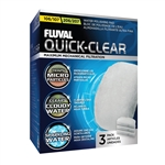 Fluval 106/107/206/207 Filter Replacement Quick-Clear Water Polishing Pad, 3-Pack (Fluval A242)