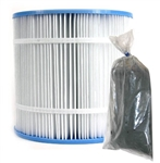 Ocean Clear Replacement Cartridge for 325 Filter & Replacement Carbon Package