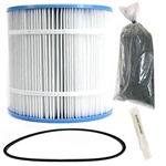 Inland Seas Nu-Clear Canister Filter Replacement Cartridge, 25 Micron, with O-Ring & Lubricant & Carbon Package