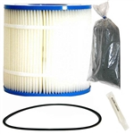 Inland Seas Nu-Clear Canister Filter Replacement Cartridge, 100 Micron, with O-Ring & Lubricant & Carbon Package