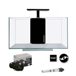 JBJ Rimless Desktop 10 Gallon Flat Panel Aquarium w/ LED Light (RL-10-FP) UPGRADE PACKAGE