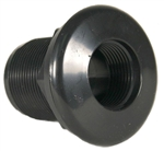 "JT Manufacturing Bulkhead 1-1/2"" Thread x Slip, Black"