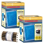 Marineland Penguin BIO-Wheel 150 & 125 Rite-Size B Replacement Filter Cartridge 12-Pack & Bio-Wheel Assembly Package