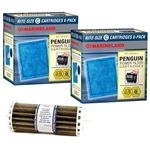 Marineland Penguin BIO-Wheel 200 & 350 Rite-Size C Replacement Filter Cartridge 12-Pack & Bio-Wheel Assembly Package
