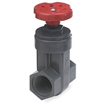 "Gate Valve 1-1/2"" Thread, PVC, Gray"