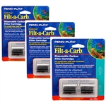 Penn-Plax Filt-a-Carb Undertow & Perfect-A-Flow Carbon Undergravel Filter Cartridge, 6-Pack