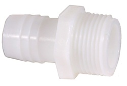 "Nylon Straight Adapters 1/2"" MPT x 1/2"" Hose Barb"