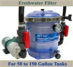 Freshwater 50 to 150 Gallon Tank Filter, Pump, & Plumbing Package
