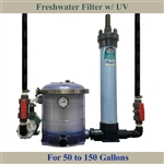Freshwater 50 to 150 Gallon Tank Filter, Pump, UV & Plumbing Package
