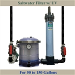 Saltwater 50 to 150 Gallon Tank Filter, Pump, UV & Plumbing Package