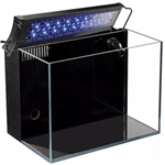 Lifegard Aquatics 24.09 Gallon Crystal Aquarium & Coralife Aqualight-S LED Fixture 18-24""