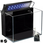 "Lifegard Aquatics 24.09 Gallon Crystal Aquarium & Coralife Aqualight-S LED Fixture 18-24"" Expanded Package"