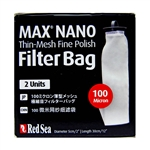 Red Sea Max Nano Replacement 100 Micron Thin-Mesh Fine Polish Filter Bag, 2 Pack (Red Sea Part # 40581)