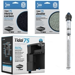 Seachem Tidal 75 Power Filter, Matrix Carbon, Zeolite & OASE HeatUp 200W Heater Freshwater Package