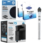 Seachem Tidal 75 Power Filter, Matrix Carbon, Purigen & OASE HeatUp 200W Heater Freshwater Package