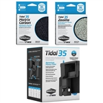 Seachem Tidal 35 Power Filter, Matrix Carbon & Zeolite Freshwater Package