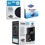 Seachem Tidal 35 Power Filter, Matrix Carbon, Purigen Freshwater Package