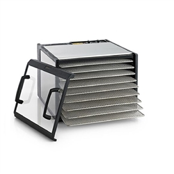 #D900CDSHDExcalibur Dehydrator - 5 Tray Stainless Steel w/Stainless Steel Trays.  Free Preserve It Naturally Guide + 10 Year Warranty