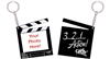 Cathe Clapperboard Keychain
