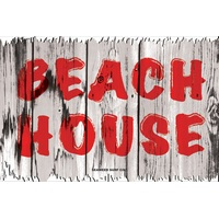 12x18 Aluminum sign that says Beach House. This quality and sturdy metal poster sign is brand new, durable and made of heavy gauge aluminum that will last for many years to come. Great for hanging outside as well as inside. A great way to add some...