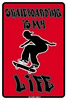 12x18 Aluminum sign that says Skateboarding Is My Life. This quality and sturdy metal poster sign is brand new, durable and made of heavy gauge aluminum that will last for many years to come. Great for hanging outside as well as inside. A great way...
