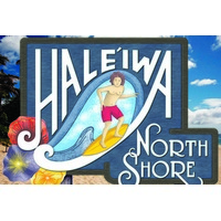 12x18 Aluminum sign that says Haleiwa North Shore. This quality and sturdy metal poster sign is brand new, durable and made of heavy gauge aluminum that will last for many years to come. Great for hanging outside as well as inside. A great way to add...