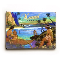 Kauai Hawaii Vintage Wood Sign