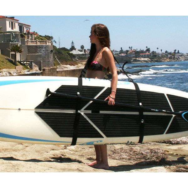 Heavy Duty Shoulder Mesh Carrier For Inflatable Paddleboard Surfboard Storage