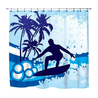 Surf home decor Beach Surfer bathroom peace coolest shower curtain made in USA