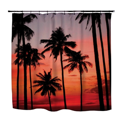 Surf decorBeach Surfer bathroom peace coolest shower curtain made in USA palm trees