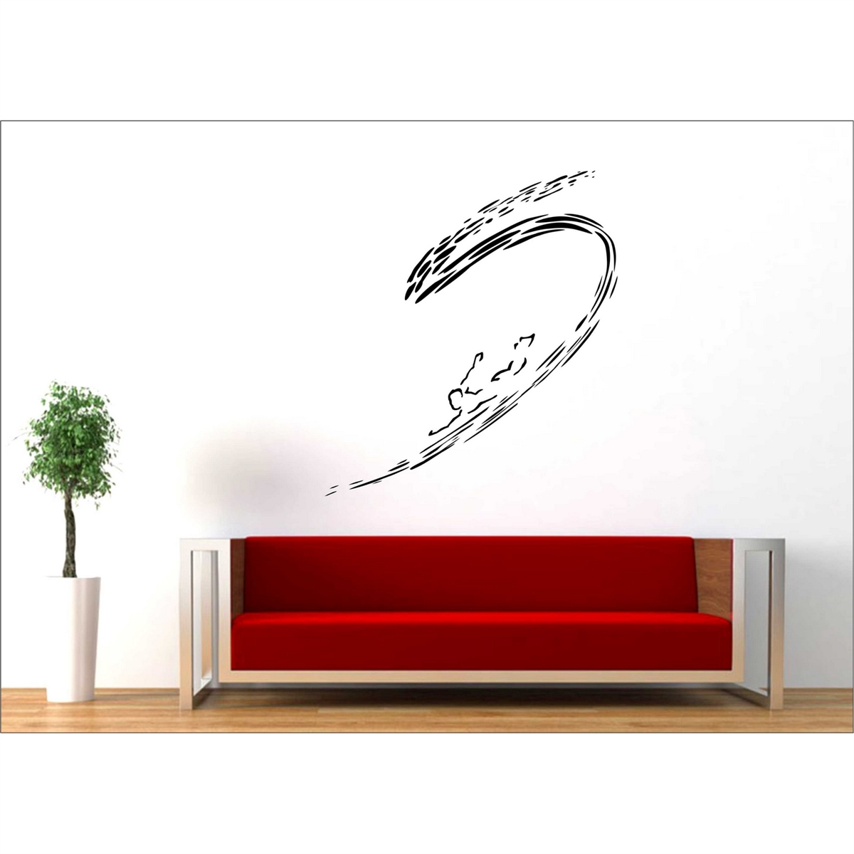 Man And Ocean Surfer Vinyl Wall Decal Art - Wall stickers art