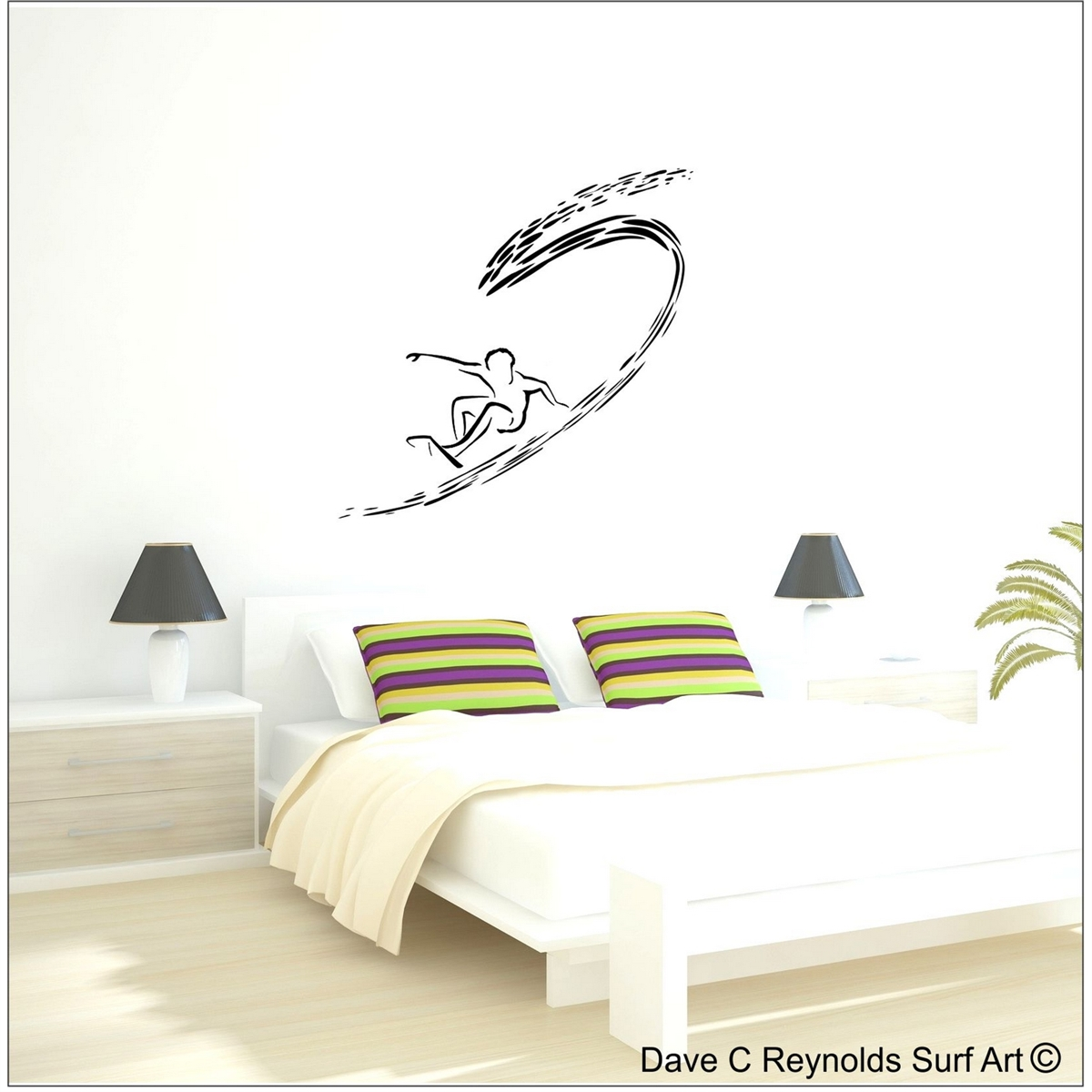 Shortboarder surfer vinyl wall decal art amipublicfo Gallery