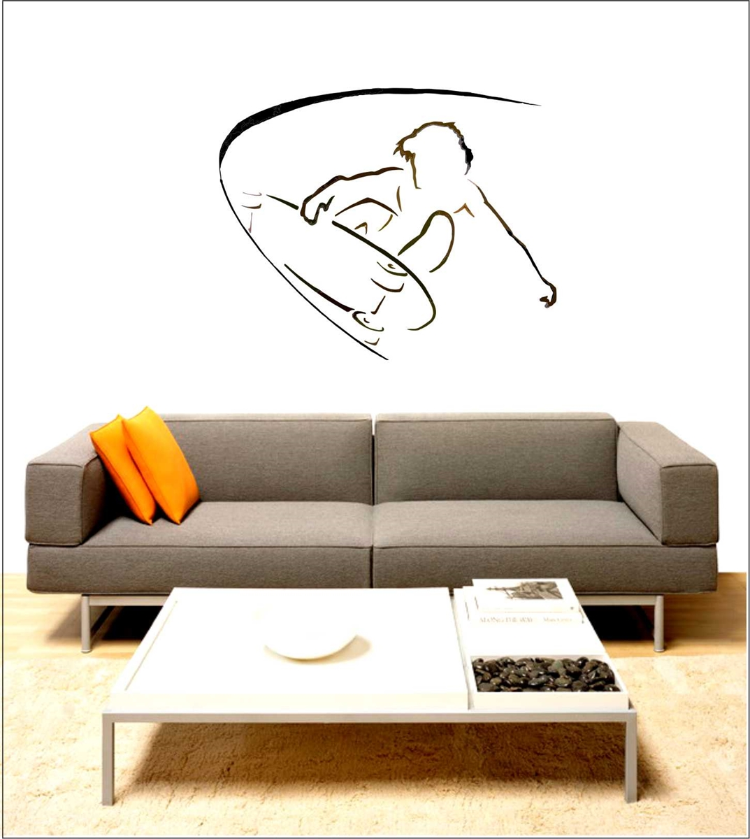 Skatboarder vinyl wall decal art instantly transform any room or office with minimalist surf wall graphics by surferdesigner dave amipublicfo Gallery