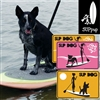 The SUP Dog Deluxe Pup Deck, Sign and Stickers Pack includes: The PUP Deck, in your choice of design: Paw Prints (Large Paws) or Solid (w/Small Cutout Prints), A SUP DOG sign (choose from guy or gal design; the gal sign...