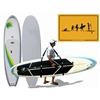 Great gift for any paddle boarder includes board carrier, UV sup board cover and a cool sup evolution sign