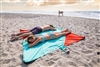 Portable waterproof beach and park blanket. Made from parachute material. Best Beach blanket you will ever have. Packs up small. Stuffs right into attached bag. Each corner has a pocket to put sand to keep the corners...