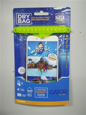 Gator The world's only magnetic self-sealing dry bag! Seal it to believe it...