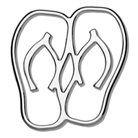 Tropi-Cals Flip Flops 3D Car Decal Emblem