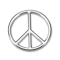 Tropi-Cals Peace Sign 3D Car Decal Emblem