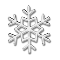 Tropi-Cals Snow Flake 3D Car Decal Emblem