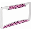 Just the right touch of Aloha. Beautiful and colorful Pink Hibiscus flower inserts with a polished show chrome metal frame   ...