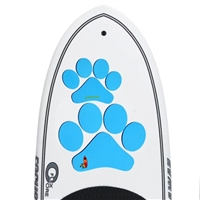 The Pup Deck - Deck Pad for Dogs - Paw Prints (Blue)