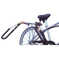 Cruise in style with this padded sidemounting bike rack. Secure your board while riding your bike. Lightweight with low wind resistance, this superior design allows easy removal of side arms when not carrying your surfboard. Carries longboards or...